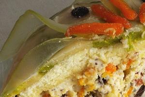 Cassata, angeschnitten