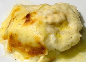 Kartoffeln mit Bechamel und Brie