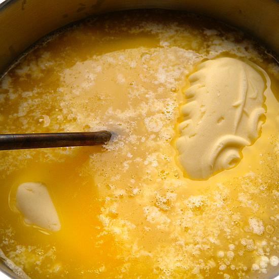 Schmelzende Butter