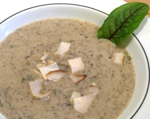 Champignon-Sauerampfer-Suppe