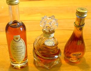 Verschiedene Cognac-Sorten